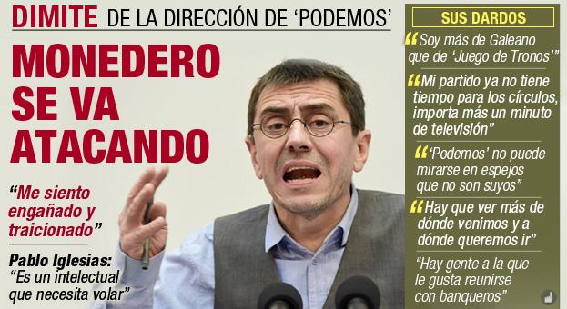 Dimisión de Monedero - Podemos y su estrategia de NO posicionamiento | Estratedi, empresa de marketing en las rozas